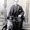 1890 Gentleman And His Dog by Historic Image