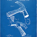 1890 Hammer Patent Artwork - Blueprint by Nikki Marie Smith