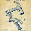 1890 Hammer Patent Artwork - Vintage by Nikki Marie Smith