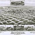 1890 Vintage Map Of Seymour Texas by Stephen Stookey