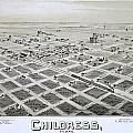 1890 Vintage Map Of Childress Texas by Stephen Stookey