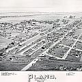 1890 Vintage Map Of Plano Texas by Stephen Stookey