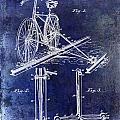 1891 Bicycle Patent Drawing Blue by Jon Neidert