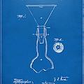 1891 Bottle Neck Patent Artwork Blueprint by Nikki Marie Smith