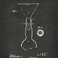 1891 Bottle Neck Patent Artwork Gray by Nikki Marie Smith
