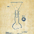 1891 Bottle Neck Patent Artwork Vintage by Nikki Marie Smith