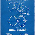 1891 Police Nippers Handcuffs Patent Artwork - Blueprint by Nikki Marie Smith