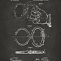 1891 Police Nippers Handcuffs Patent Artwork - Gray by Nikki Marie Smith