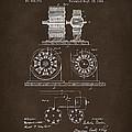 1891 Tesla Electro Magnetic Motor Patent Espresso by Nikki Marie Smith