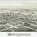 1891 Vintage Map Of Whitewright Texas by Stephen Stookey
