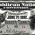1892 Republican Convention Ticket by Historic Image