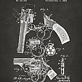 1894 Foehl Revolver Patent Artwork - Gray by Nikki Marie Smith