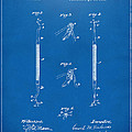 1896 Dental Excavator Patent Blueprint by Nikki Marie Smith