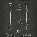 1896 Dental Excavator Patent Gray by Nikki Marie Smith