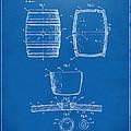1898 Beer Keg Patent Artwork - Blueprint by Nikki Marie Smith