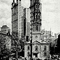1900 St. Paul's Chapel New York City by Historic Image
