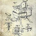 1901 Barber Chair Patent Drawing  by Jon Neidert