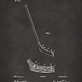 1901 Hockey Stick Patent Artwork - Gray by Nikki Marie Smith
