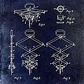 1902 Corkscrew Patent Blue  by Jon Neidert