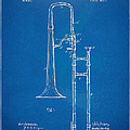 1902 Slide Trombone Patent Blueprint by Nikki Marie Smith