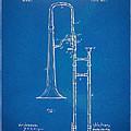 1902 Slide Trombone Patent Blueprint by Nikki Marie Smith