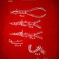 1903 Dental Pliers Patent Red by Nikki Marie Smith