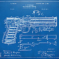 1903 McClean Pistol Patent Artwork - Blueprint by Nikki Marie Smith