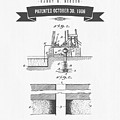 1906 Well Drilling Apparatus Patent Drawing - Retro Gray by Aged Pixel