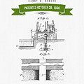 1906 Well Drilling Apparatus Patent Drawing - Retro Green by Aged Pixel