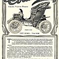 1907 - Columbia Victoria Phaeton Electric Automobile Advertisement by John Madison
