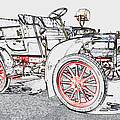 1907 Cadillac Colored Pencil by Paul Cannon