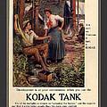 1907 Vintage Kodak Tank Advertising by Anne Kitzman