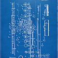 1908 Flute Patent - Blueprint by Nikki Marie Smith