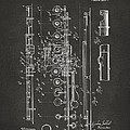 1908 Flute Patent - Gray by Nikki Marie Smith