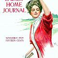 1909 - Ladies Home Journal Magazine Cover - November - Color by John Madison