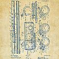 1909 Flute Patent - Vintage by Nikki Marie Smith