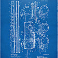 1909 Flute Patent - Blueprint by Nikki Marie Smith