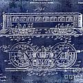 1909 Railway System Patent Drawing Blue by Jon Neidert