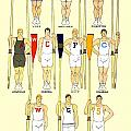 1910 - College Crew Poster - Rowing - Edward Penfield - Color by John Madison