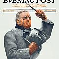 1910 - Saturday Evening Post Magazine Cover - February - Color by John Madison