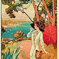 1910 Antibes Vintage Travel Art  by Presented By American Classic Art
