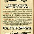 1911 - White Automobile Company Advertisement by John Madison