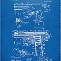 1911 Automatic Firearm Patent Artwork - Blueprint by Nikki Marie Smith