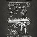 1911 Automatic Firearm Patent Artwork - Gray by Nikki Marie Smith