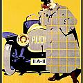 1912 - Audi Automobile Advertisement Poster - Ludwig Hohlwein - Color by John Madison