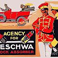 1913 - Geschwa Automobile Shock Absorber Adbertisement - Color by John Madison