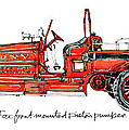 1913 Ahrens-fox Front Mounted Piston Pumper by Guy Harnett