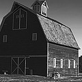 1913 Barn Black And White by Cathy Anderson