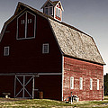 1913 Barn In Montana by Cathy Anderson