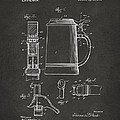 1914 Beer Stein Patent Artwork - Gray by Nikki Marie Smith